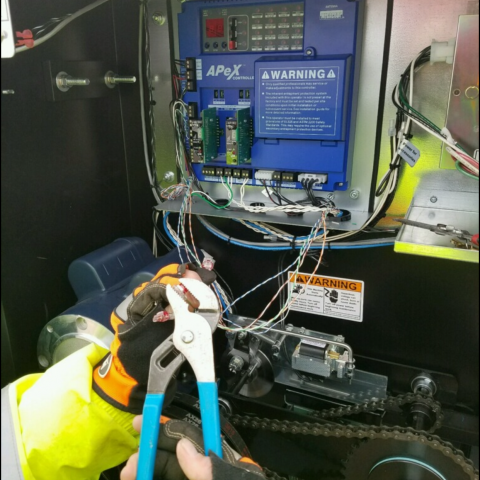Access Control Fence Connection